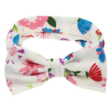 Baby Wisp Big Bow Headband Tropical Island