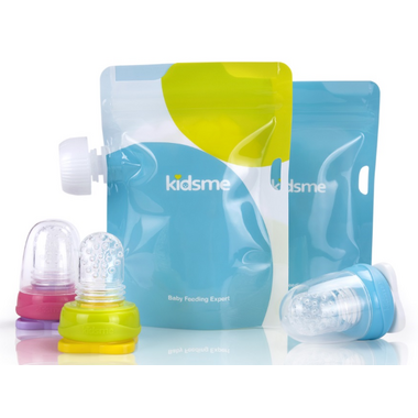 Kidsme Reusable Food Pouch and Adapter Set