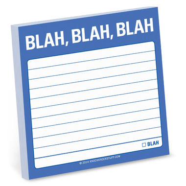 Knock Knock Blah, Blah, Blah Sticky Notes