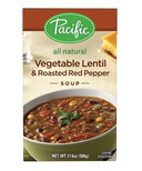 Pacific All Natural Vegetable Lentil & Roasted Red Pepper Soup