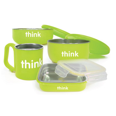 Thinkbaby Complete BPA Free Feeding Set Light Green