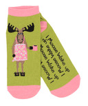 Little Blue House Women's Ankle Socks I Moose Wake Up
