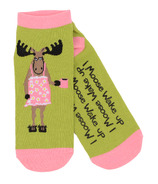 Little Blue House Women's Ankle Socks I Moose Wake Up