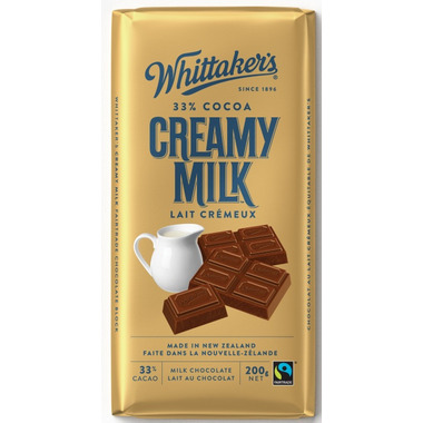 Whittaker\'s Fair Trade Creamy Milk Chocolate