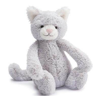 Jellycat Bashful Kitty Grey & White