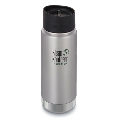 Klean Kanteen Stainless Steel Bottle with Cafe Cap Brushed Stainless