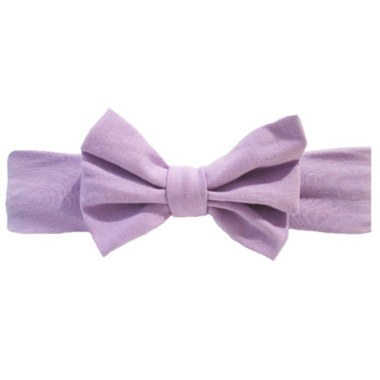 Baby Wisp Big Bow Headband Lavendar