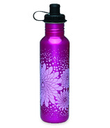 Gaiam Purple Summer Garden Stainless Steel Water Bottle