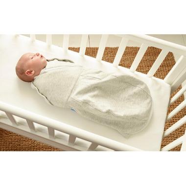 Grosnug Newborn Light Weight Swaddle Grobag Grey Marl