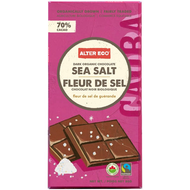 Alter Eco Dark Organic Chocolate Sea Salt