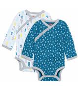 Skip Hop ABC-123 Side-Snap Long Sleeve Bodysuit Set Blue