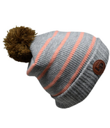 L&P Apparel Aspen Winter Hat Grey & Light Pink