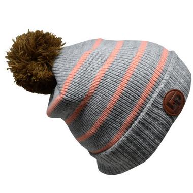 L&P Apparel Aspen Winter Hat Grey & Light Pink