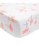 Little Unicorn Brushed Crib Sheet Pink Ladies