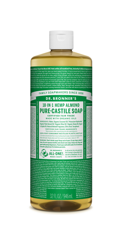 buy dr bronner 39 s organic pure castile liquid soap at free shipping 35 in canada. Black Bedroom Furniture Sets. Home Design Ideas
