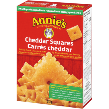 Annie\'s Homegrown Organic Cheddar Squares