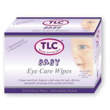 TLC Tender Loving Care Baby Eye Care Wipes