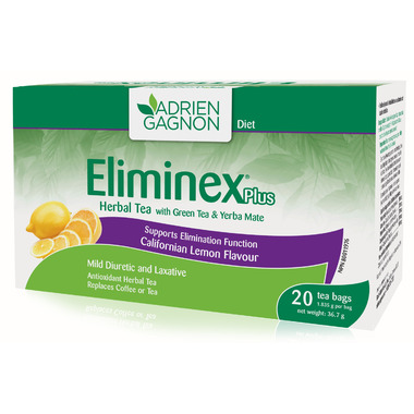 Adrien Gagnon Eliminex Plus Herbal Tea Californian Lemon Flavour