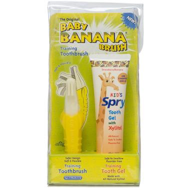 Spry Baby Banana Brush Training Toothbrush Kit