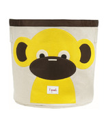 3 Sprouts Storage Bin Yellow Monkey