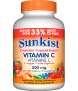 Sunkist Vitamin C Chewable Tropical Breeze 500 mg