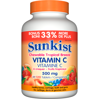 Sunkist Vitamin C Chewable Tropical Breeze 500 mg