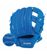 """Franklin Sports 9.5"""" RTP Performance Glove and Ball Royal Blue"""