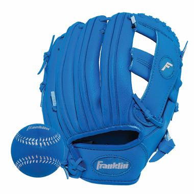 """Franklin Sports 9.5\"""" RTP Performance Glove and Ball Royal Blue"""