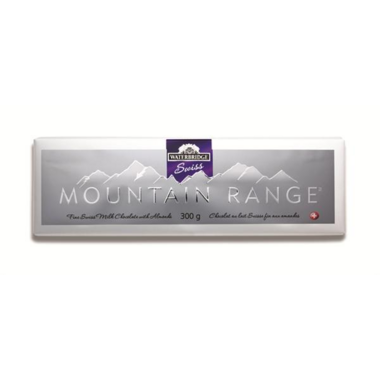 Waterbridge Swiss Mountain Range Milk Chocolate Almond Bar