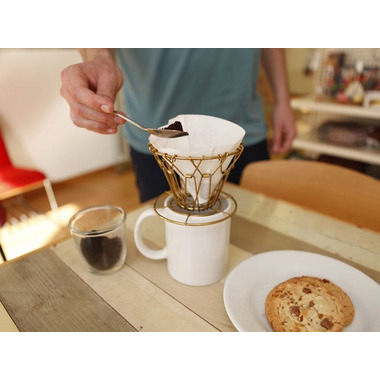 Kikkerland Brass Collapsible Coffee Dripper