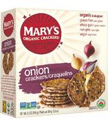 Mary's Organic Crackers Onion Crackers