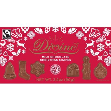 Divine Chocolates Milk Chocolate Christmas Shapes