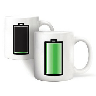 Kikkerland Battery Morph Coffee Mug