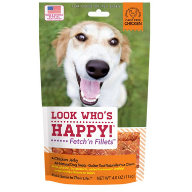 Look Who\'s Happy Fetch\'n Fillets Chicken Jerky
