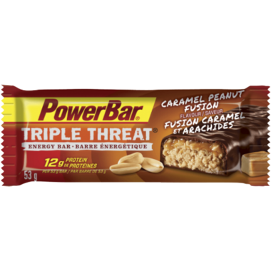 PowerBar Triple Threat Bar Caramel Peanut Fusion