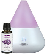 NOW Solutions Ultrasonic Diffuser with Free Lavender Essential Oil