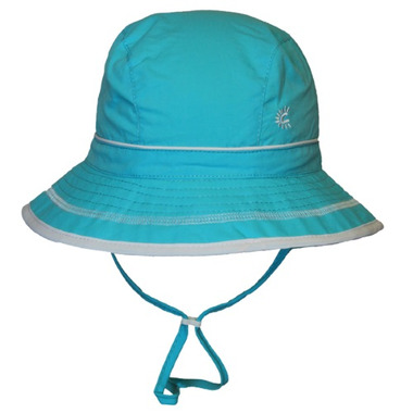 Calikids Quick-Dry Bucket Hat Extra Wide Brim Aqua