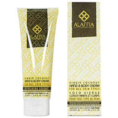 Alaffia Virgin Coconut Hand & Body Cream Refreshing Coconut
