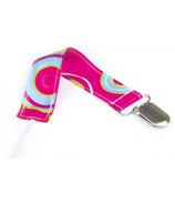 Bumkins Pacifier Clip Pink Fizz