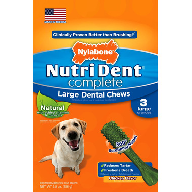 Nutri Dent Complete Dental Chews Chicken Large Size 3 Pack