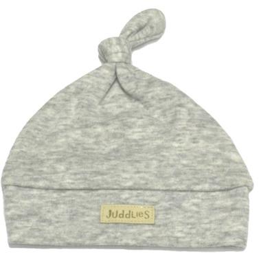 Juddlies Newborn Cap Pale Grey Fleck