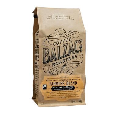 Balzac Coffee Freshly Roasted Farmer\'s Blend Whole Bean Coffee