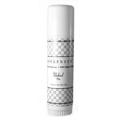 Lovefresh Unscented Natural Cream Deodorant Travel Stick