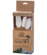 EcoSouLife Disposable Corn Starch Cutlery Set