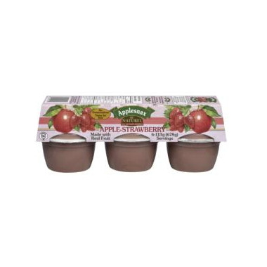 Applesnax Apple-Strawberry Applesauce Cups