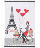 Now Designs Tour De Paris Print Tea Towel