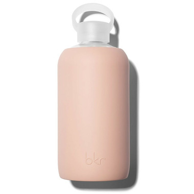 bkr Naked Glass Water Bottle Opaque Light Chocolate Milk Nude