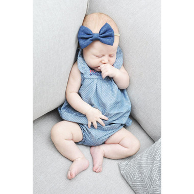 Baby Wisp Baby Headband Denim Bow