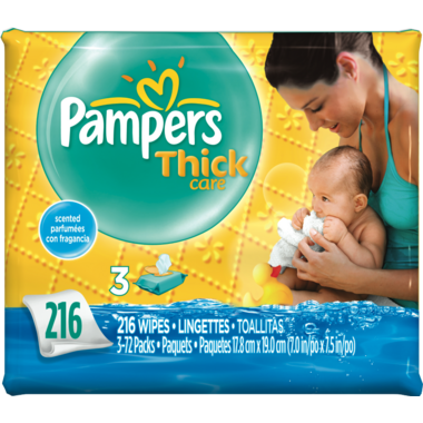Pampers Thick Care Scented Wipes Refill