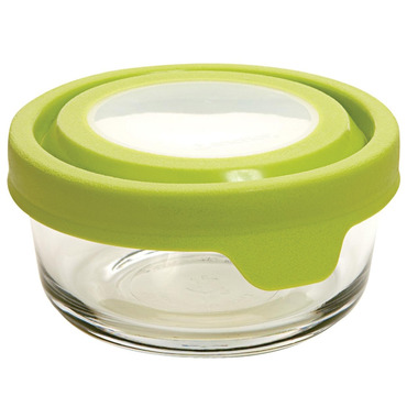 Anchor TrueSeal 1 Cup Round Storage Container with Green Lid
